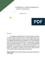 VICENZI, Renilda. Colonizadora Bertaso e a (Des) Ocupação No Oeste Catarinense. Cadernos Do Ceom, Chapecó, SC , V. 19, n. 25, Dez. 2006, p. 301-318
