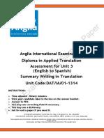 Diploma Transl Unit 3 PaperDATIA01 1314