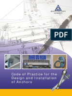 Code of Practice for the Design and Installation of Anchors