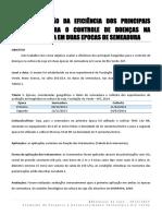 Avaliação Da Eficiência Dos Principais Fungicidas Para o Controle de Doenças Na Cultura Da Soja Em Duas Epocas de Semeadura