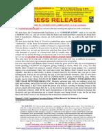 20180306-Press Release Mr g. h. Schorel-hlavka o.w.b. Issue - Re Conservation & Irregation