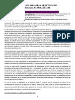 Informe Vocalias Docentes Electas