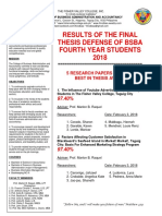 bsba theses results 2018