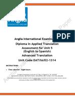 Diploma Transl Unit 5 PaperDATIA02 1314