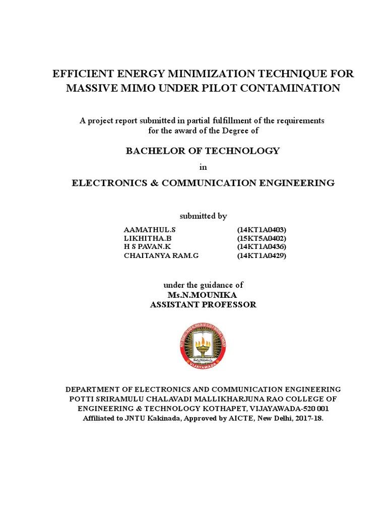 ENERGY MINIMIZATION TECHNIQUE FOR PILOT CONTAMINATION doc