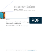 FONSECA Interdisciplinaridade Historia e Estatistica