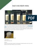 Recepti Za Deset Vrsta Biljnih Mleka