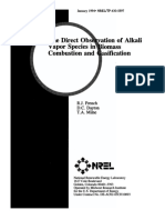 The Direct Observation of Alkali Vapor Species in Biomass Combustion and Gasification