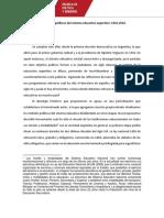 Los Sentidos Políticos Del Sistema Educativo Argentino 1916-2016