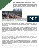Impacto Ambiental de La Fabricación y Consumo Del Papel