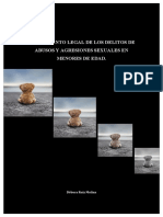 TRATAMIENTO LEGAL DE LOS DELITOS DE ABUSOS Y AGRESIONES SEXUALES EN MENORES DE EDAD.