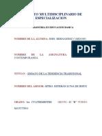 Pedagogia Contemporaneoensayo Final Maestra Ines Hernandez Cardoso