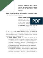 Denuncia Penal Peculado--- Tomas Maximo