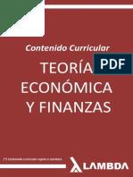 Teoria Economica y Finanzas - Contenido Curricular