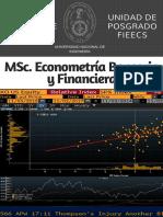 MSc. en Econometría Bancaria y Financiera UNI