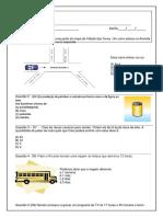 Simulado de Matemática - 5º Ano - Prova Brasil