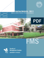 FMS Admission Brochure 2011