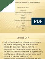 Institución Educativa Francisco de Paula Santander Uso de La h