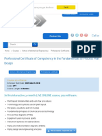 Professional Certificate of Competency in the Fundamentals of Process Plant Layout & Piping Design