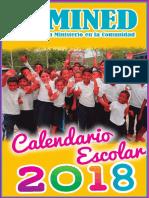 Calendario Escolar Mined Nic 2018