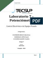 LABORATORIO electronico potenciometro