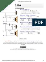 Projeto de Divisores e Frequencias Com 2 Vias (3KHz)