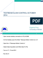 Telecope Slow Control Oct 2014