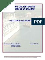 Manual Sistema de La Calidad Operaciones de Buques Canal de Panama