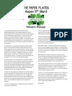 Aspen 11th Ward Newsletter