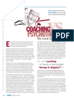 Coaching vs Psychology the Great Debate