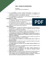 Tema 8. Riesgo en Inversiones