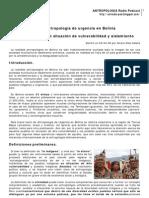 Sobre antropología de urgencia en Bolivia
