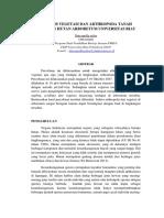 Analisis Vegetasi Dan Arthropoda Tanah Kawasan Hutan Arboretum Universitas Riau