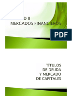 Unidad II - Títulos de Deuda y Capitales