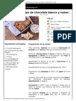 Hoja de Impresión de Cookies Con Chips de Chocolate Blanco y Nubes