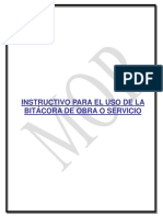 INSTRUCTIVO BITACORA