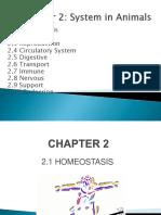 2.1 Homeostasis