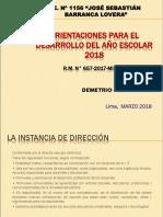 Orientaciones Básicas Para El Año Escolar 2018 Ccesa007