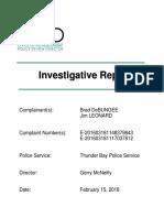 DeBungee Leonard Investigative Report