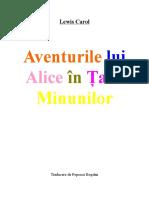 Lewis Caroll - Alice in Tara Minunilor