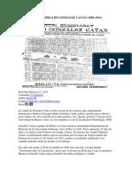 Origenes Del Pueblo de Gonzalez Catan