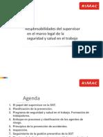 Responsabilidades Del Supervisor en El Marco Legal de La Seguridad y{ Salud