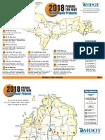 MDOT 2018 construction map