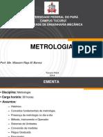 Aula 1 Metrologia