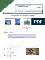 Contrôle 1 7ºA, 2010-11