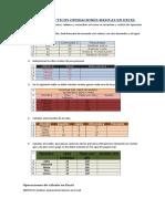 Ejercicios de Excel Operaciones Suma Resta Multiplicacion y Division