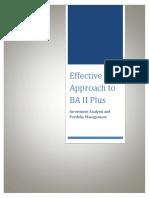 Effective Approach to Ba II Plus Calculator