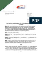 cochusa media advisory