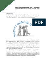 """O psicólogo e professor Petrini é entrevistado sobre o lançamento do Programa de Orientação Psicossocial """"Cuidar de si"""" da Fatec Jundiaí"""