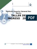 Taller Ingreso 2018